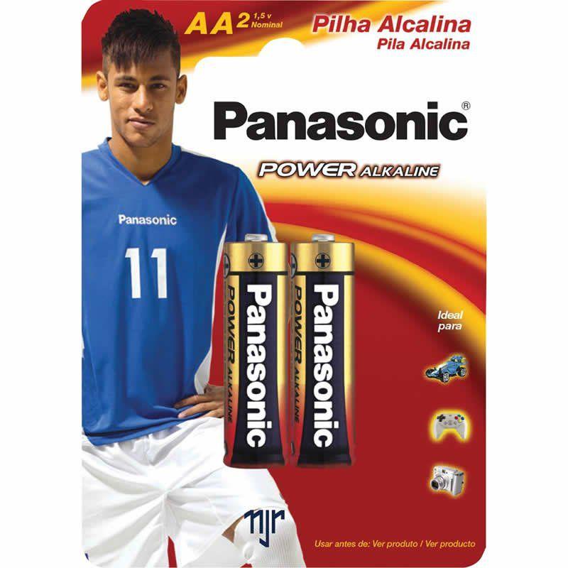 Pilha Panasonic Alcalina Pequena AA 2 Un. 10408