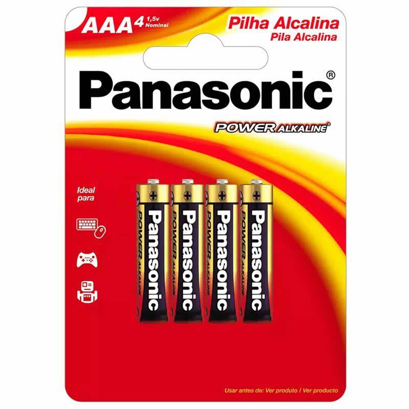 Pilha Panasonic Alcalina Palito AAA 4 Un. 10415