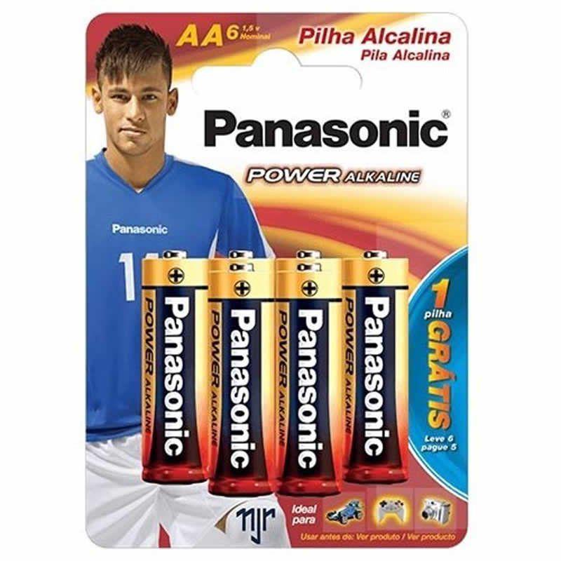 Pilha Panasonic Alcalina Pequena AA 6 Un. 16935