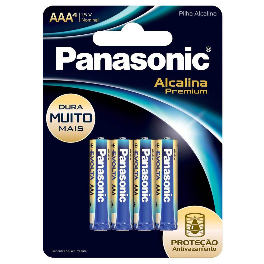 Pilha Panasonic Alcalina Premium Evolta AAA 4 Un. Lr03Egr/4B96 25006