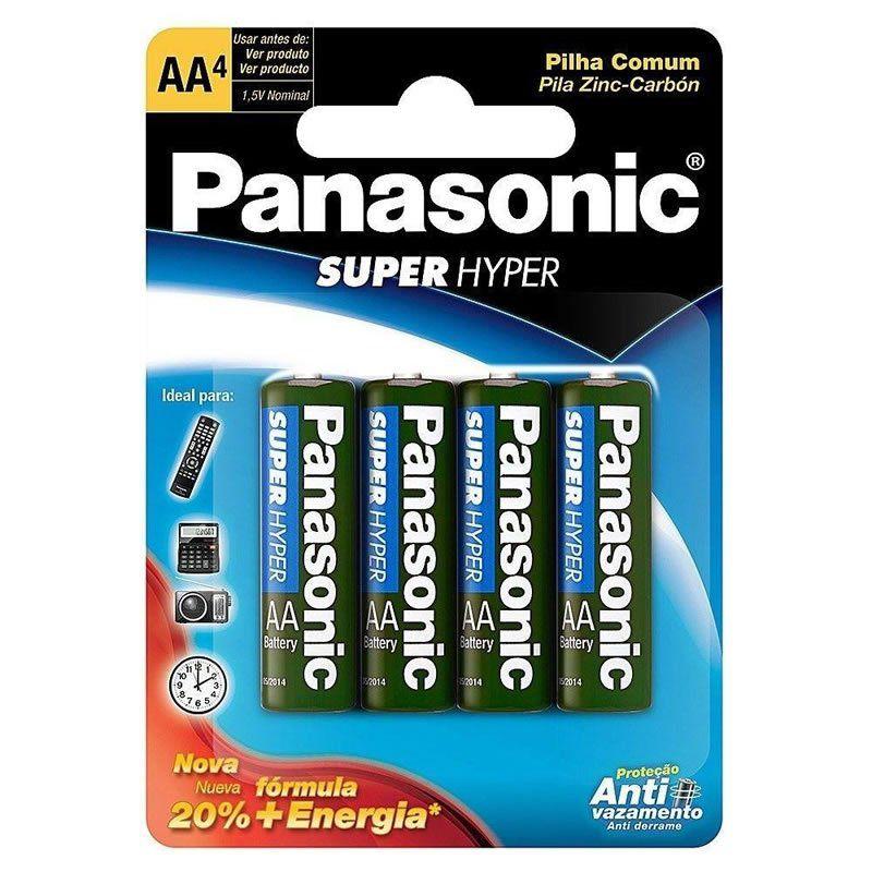 Pilha Panasonic Super Hyper Pequena AA 4 Un. 10424