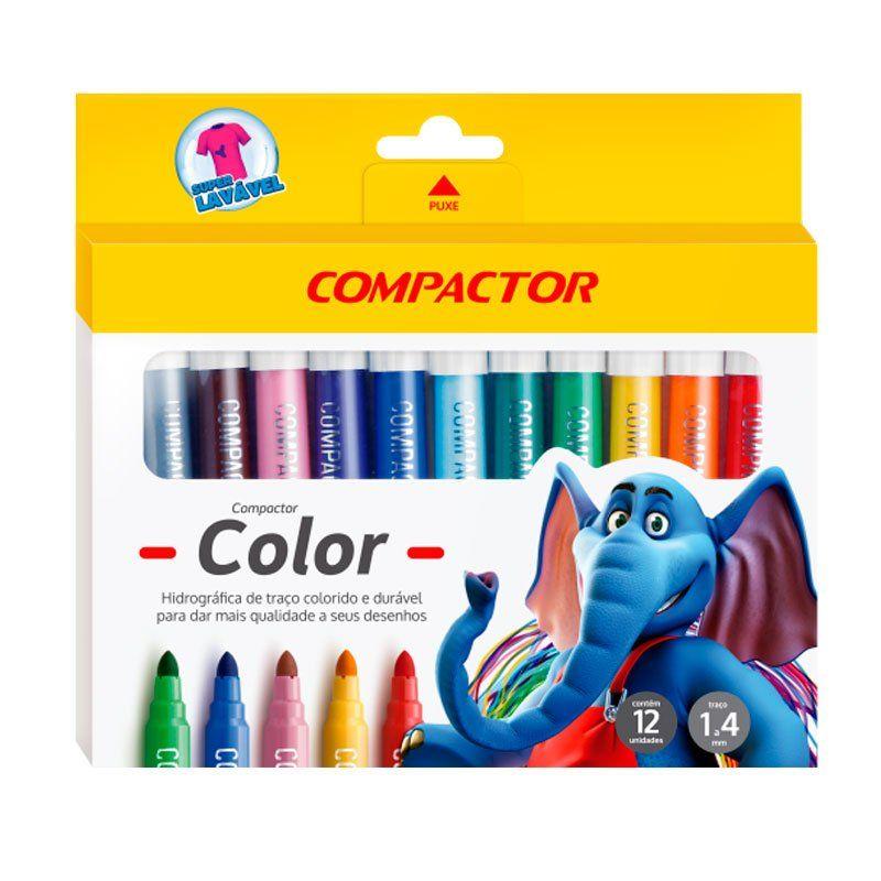 Pincel Compactor Color Estojo 12 Cores 02808