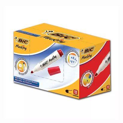 Pincel para Quadro Branco BIC Recarregável Vermelho Caixa com 12 Un 904402 20039