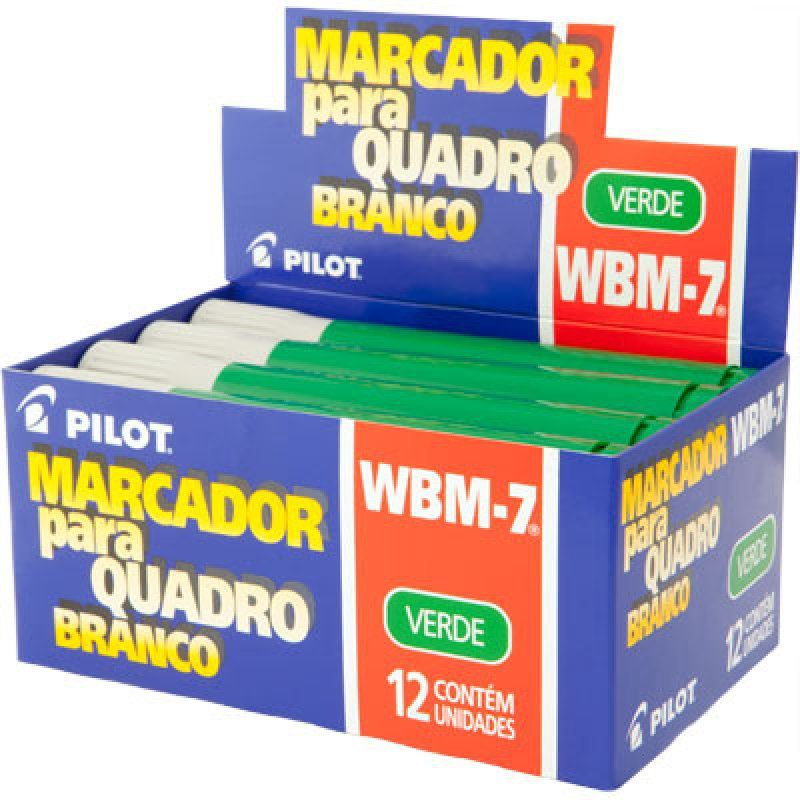 Marcador Para Quadro Branco Azul WBM-7 Verde Caixa Com 12 Un. Pilot 03533