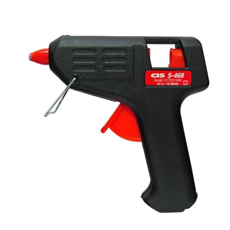 Pistola para Cola Quente Silicone Pequena S-468 Cis 01942