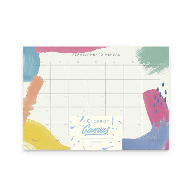 Planner 2019 Bloco Mensal Cicero Canvas 20X28 5101 26559