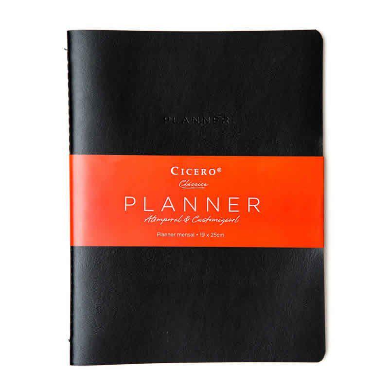 Planner Cicero Clássica Preto 19X25 5958 26558