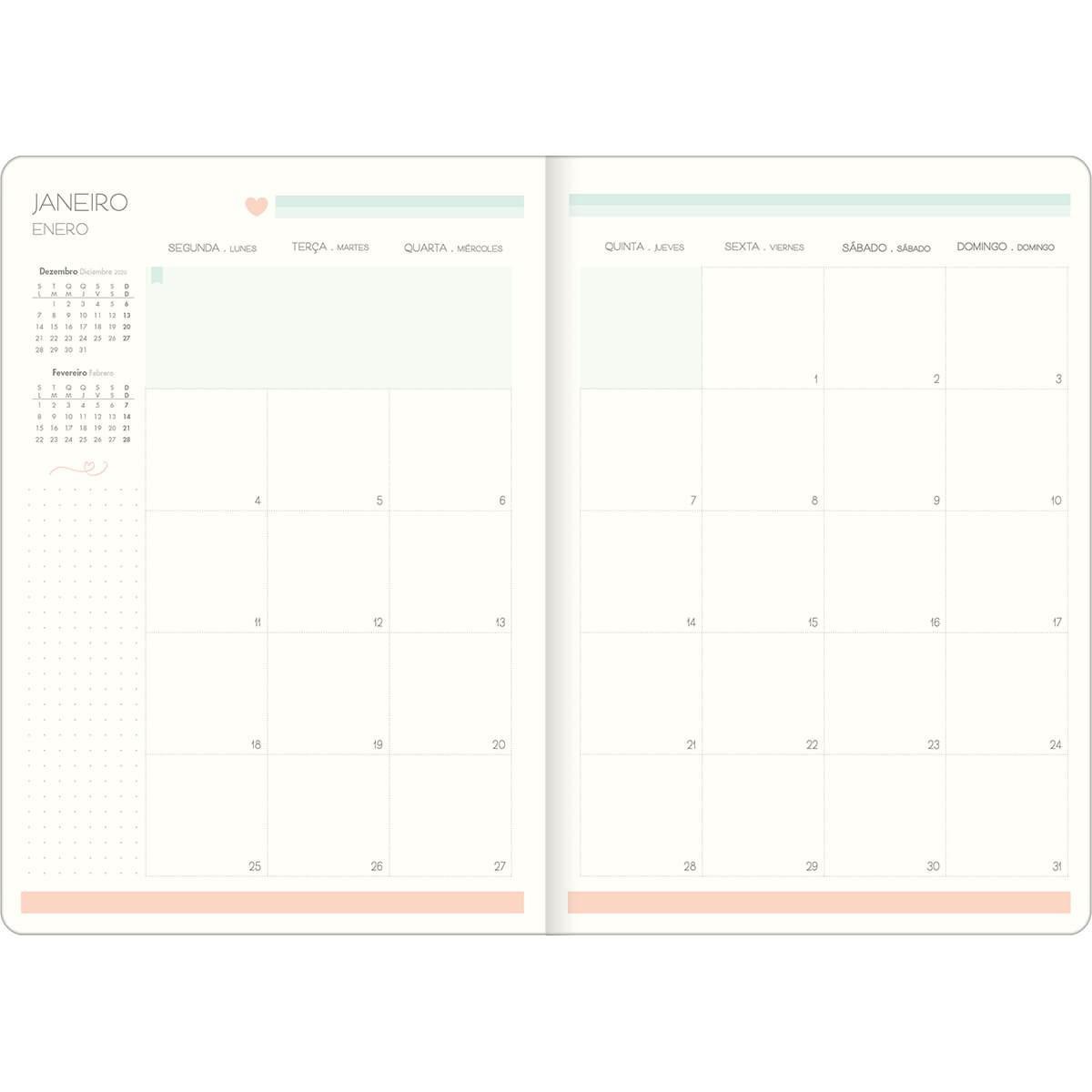 Planner 2021 Tilibra SoHo Tons Pastel Grampeado 290963 26271