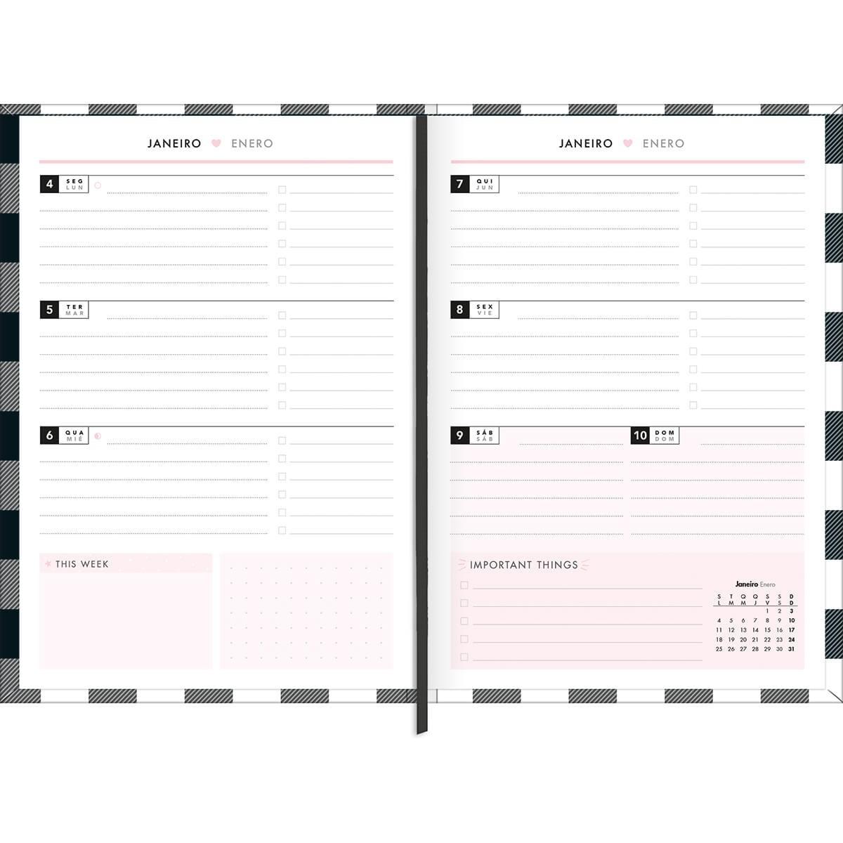 Planner 2021 Tilibra West Village Capa Dura Costurada 179817 26101
