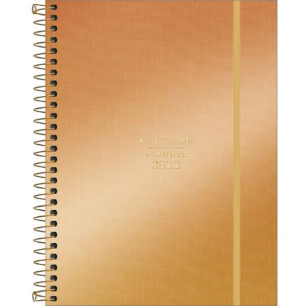 Planner 2022 West Village Metalizado Espiral 314307 Tilibra  29498