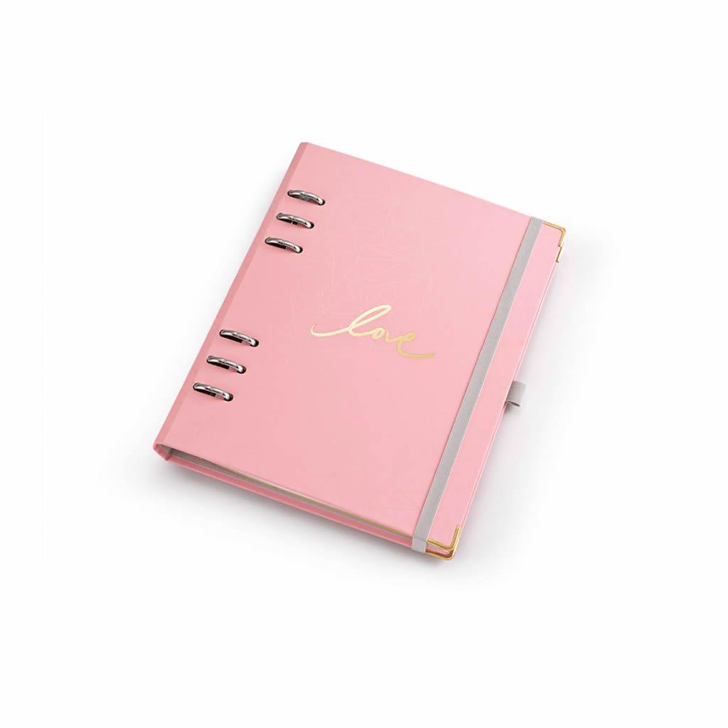 Planner Argolado A5 Otima Pink Stone Gm Rosa 49096 29151