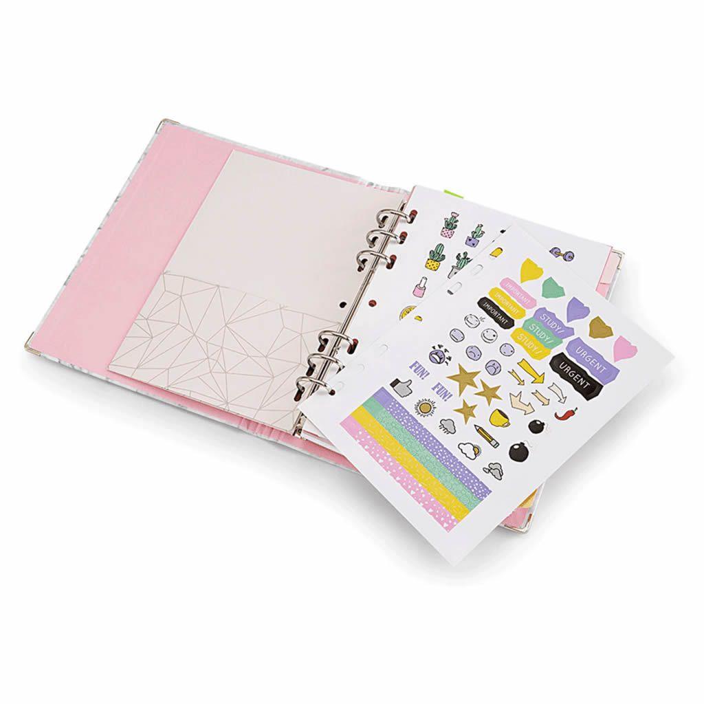 Planner Argolado A5 Otima Pink Stone Mrm Cinza 49089 25582