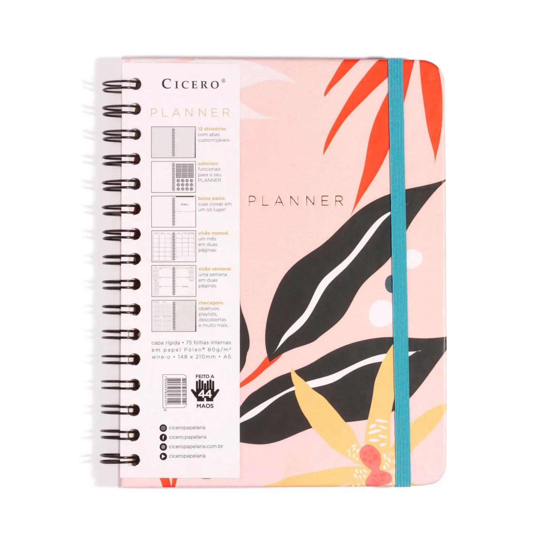 Planner Cicero A5 Wire-O Polen Rosa 8980 29025