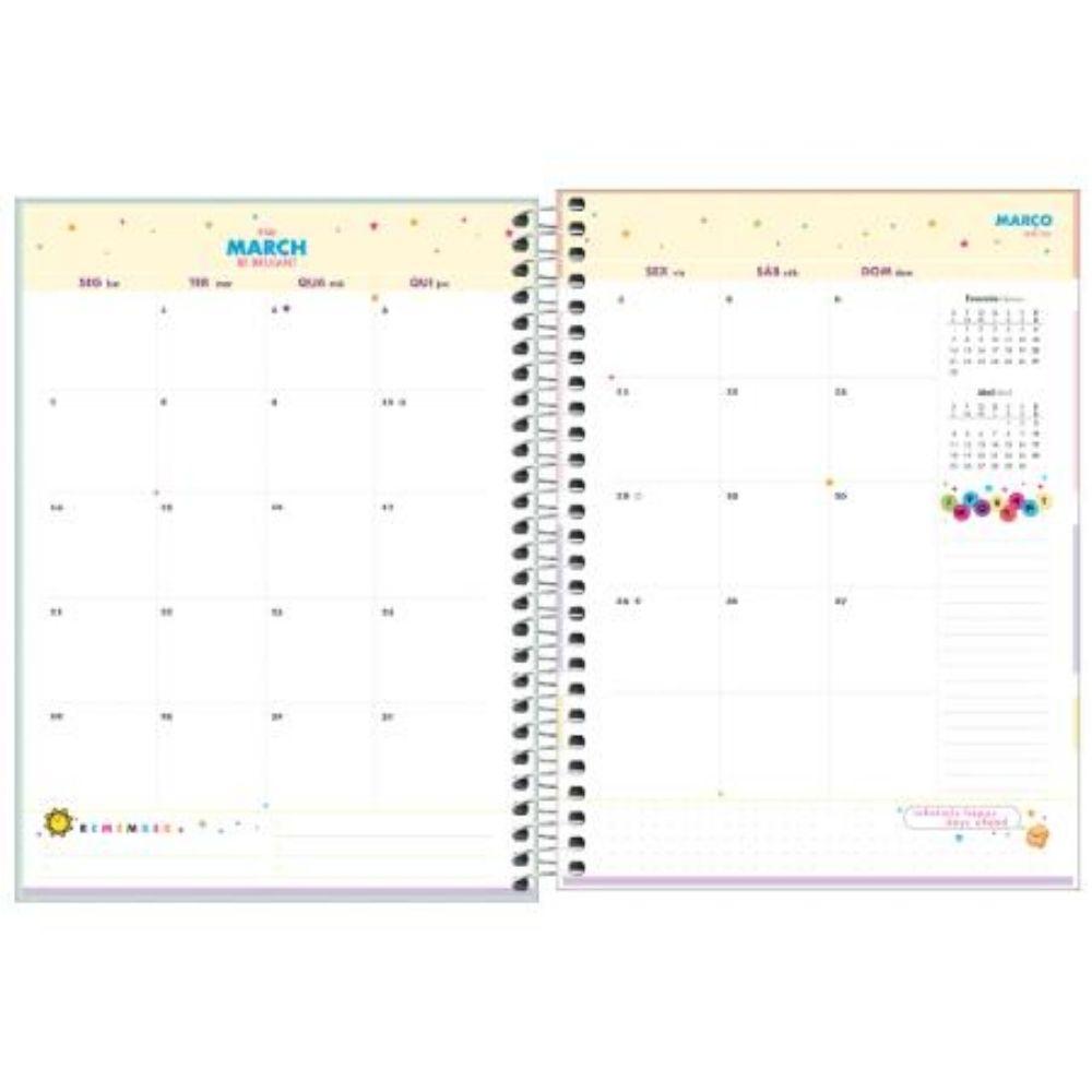 Planner Happy Capa Dura Espiral Verde 2022 307050 Tilibra  29472