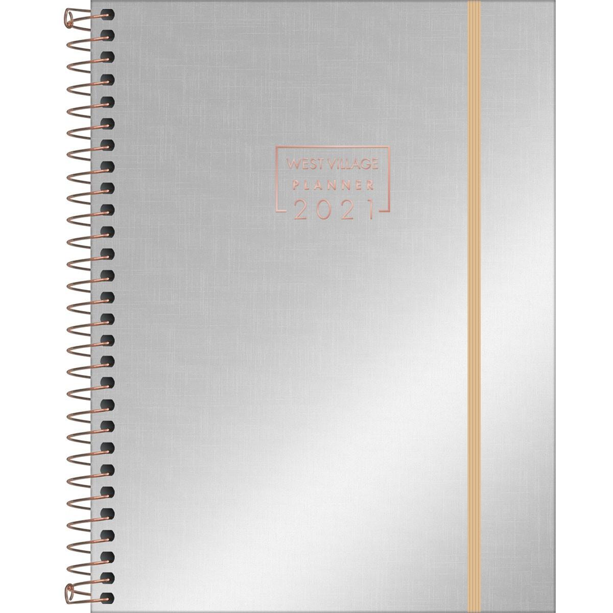 Planner Tilibra 2021 West Village Metalizado Espiral 314307 29498