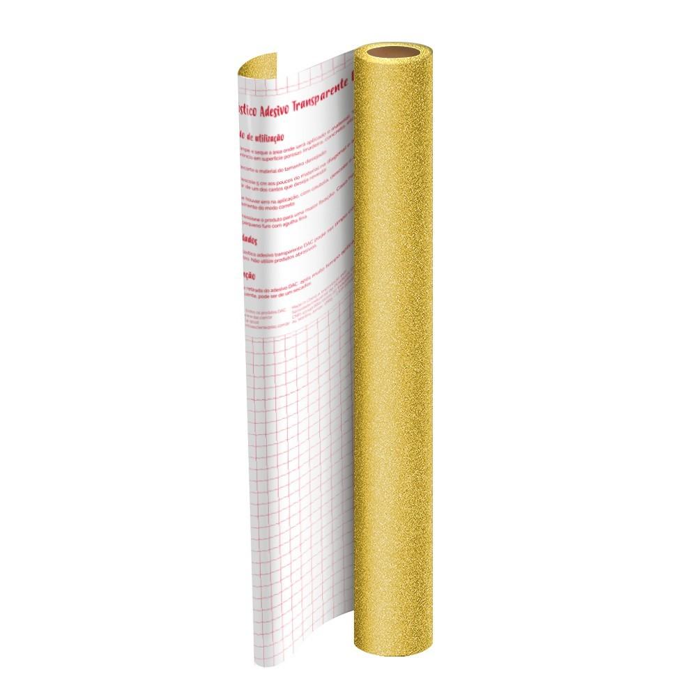 Plástico Adesivo DAC Gliter PP 45cm X 2M Dourado 1711DO 29543