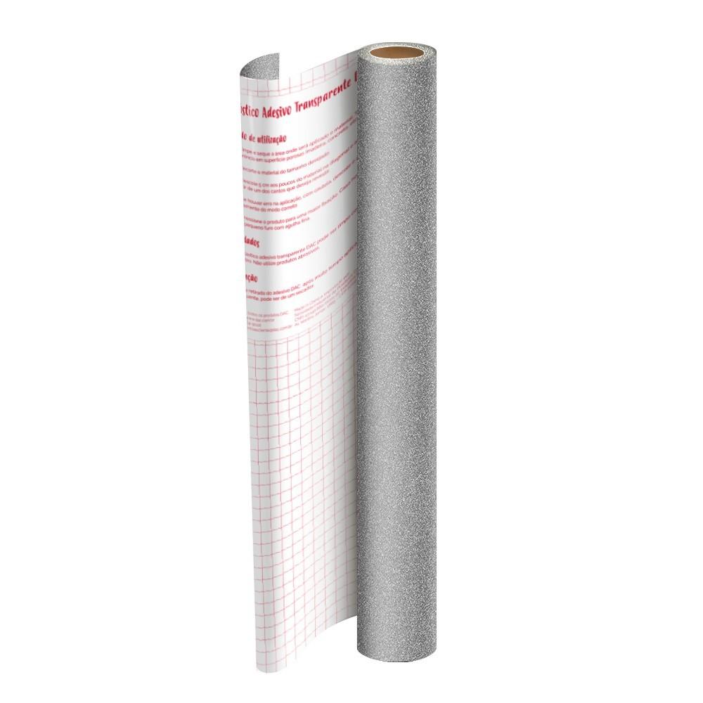 Plástico Adesivo DAC Gliter PP 45cm X 2M Prata 1711PR 29544