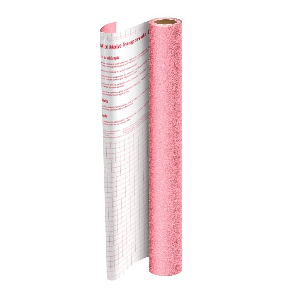 Plástico Adesivo DAC Gliter PP 45cm X 2M Rosa 1711RS 29546