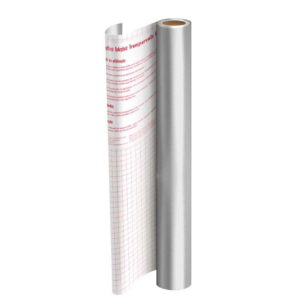 Plástico Adesivo DAC Metalizado PP 45cm X 2M Prata 1750PT 29541