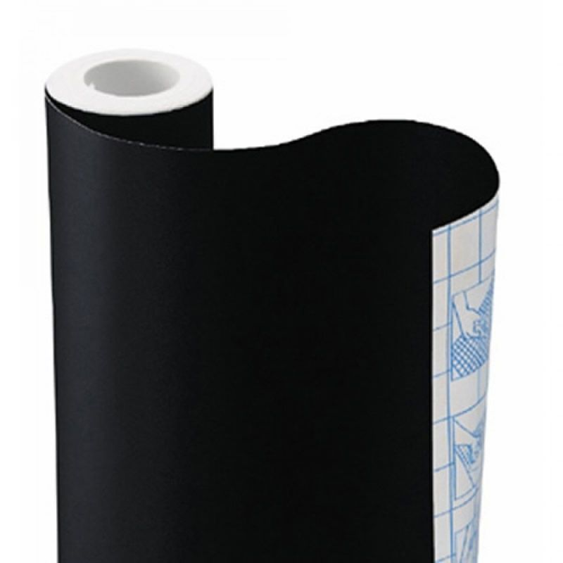 Plastico Adesivo Plastcover Preto Opaco 45Cmx10M 25950