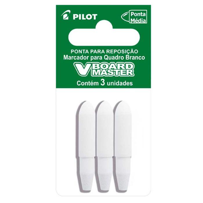 Ponta Pincel Para Quadro Branco Recarregável 3 Un. WBTIP-VBM-M Pilot 10922