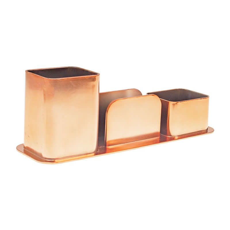 Porta Canetas /Clips / Lembrete Dello Metalizado Rose Gold 3031.Rg.0012 27140