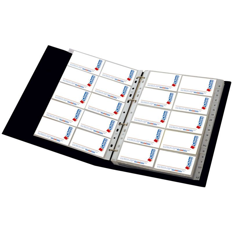 Porta Cartão Com 25 Refis 4 Argolas 08304