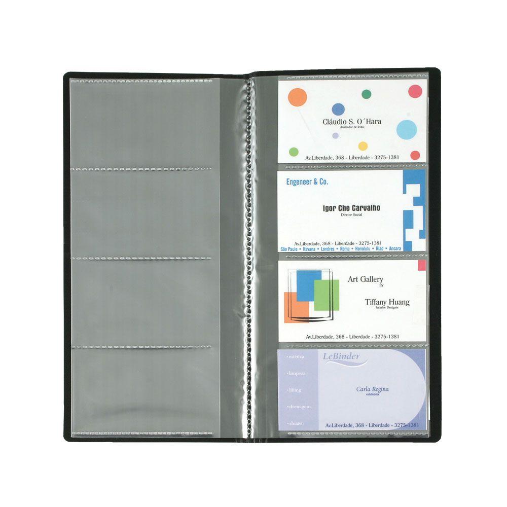 Porta Cartão com 80 Espaços Opaco 1 Col. 4 Divisórias Preta Nc80 Yes 11439