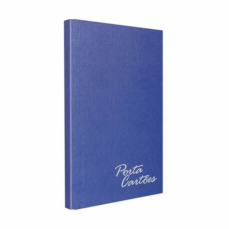 Porta Cartões Chies Com Solda Para 120 Un Azul Royal 1582 14093