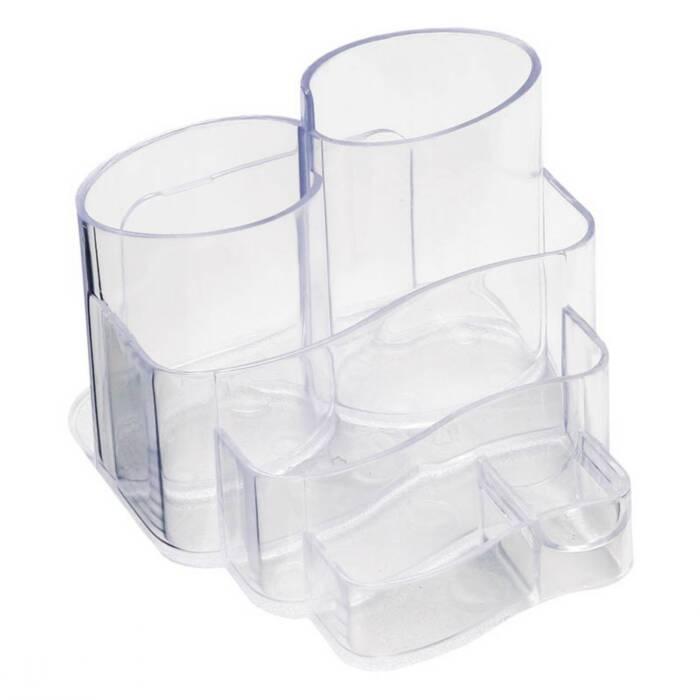Porta Lápis / Clips / Papel Conjunto Triplo Injetado Cristal 3005H Dello 07367