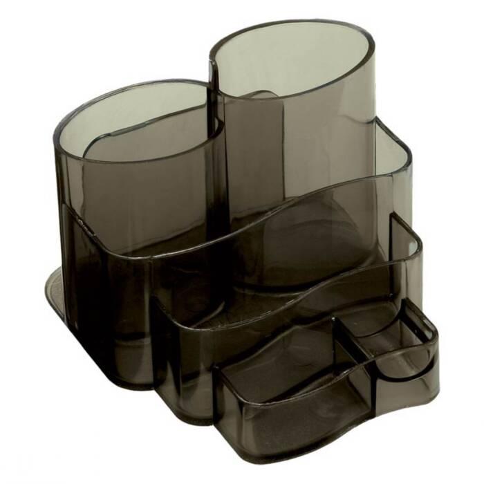 Porta Lápis / Clips / Papel Conjunto Triplo Injetado Fume 3005H Dello 07368
