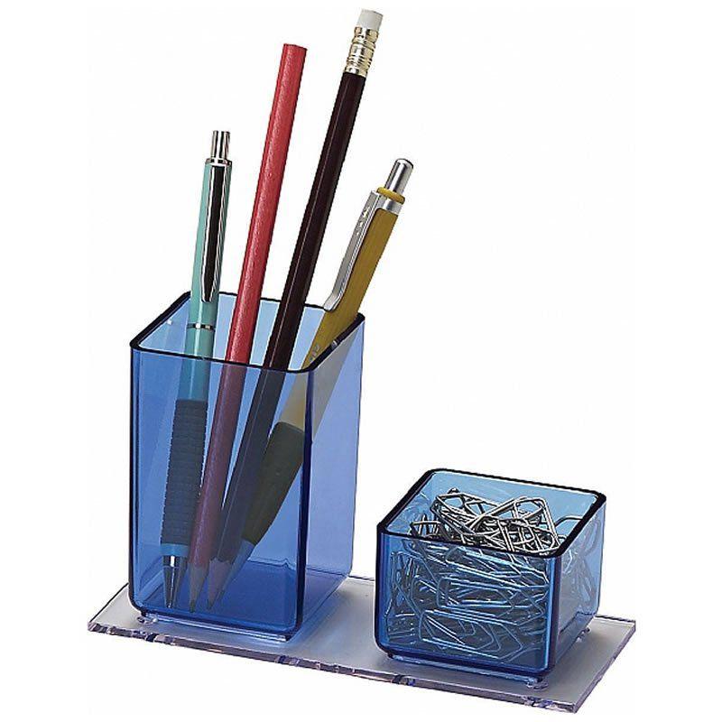 Porta Lápis e Clips Acrimet Azul 939.AZ 23900