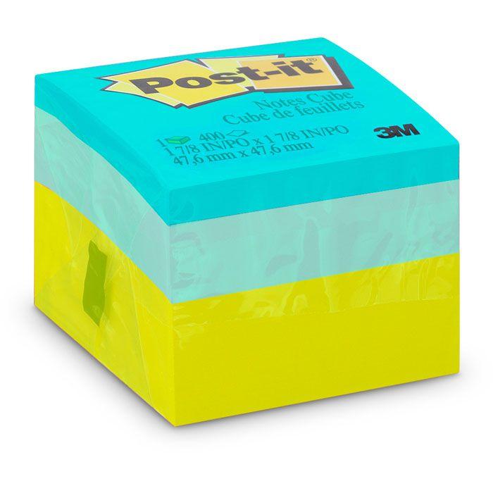 Post-It Cubo 47mm X 47mm Verde Neon 3M 23205