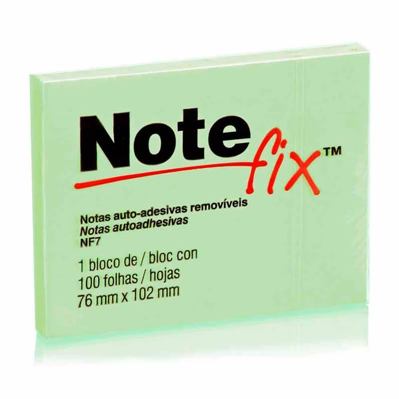 Bloco Adesivo Notefix Verde - 76mm x 102mm - 100 folhas 08923