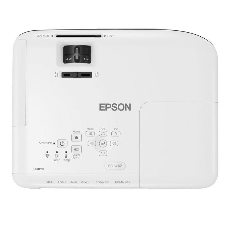 Projetor Epson W42+ 3LCD Powerlite WXGA HDMI 3600 Lumens 25368