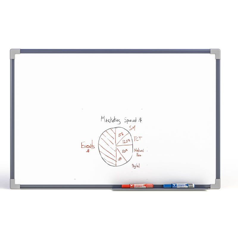Quadro Branco Magnetico Stalo 120X90Cm Aluminio 9894 08845