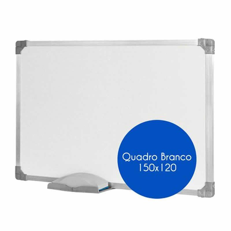 Quadro Branco Stalo 150X120Cm Aluminio com Cantoneira 9388 11029