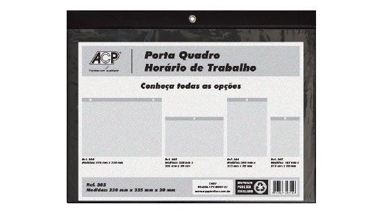 Quadro de Aviso ACP Porta Horário Trabalho 240X340 Horizontal 305 02035