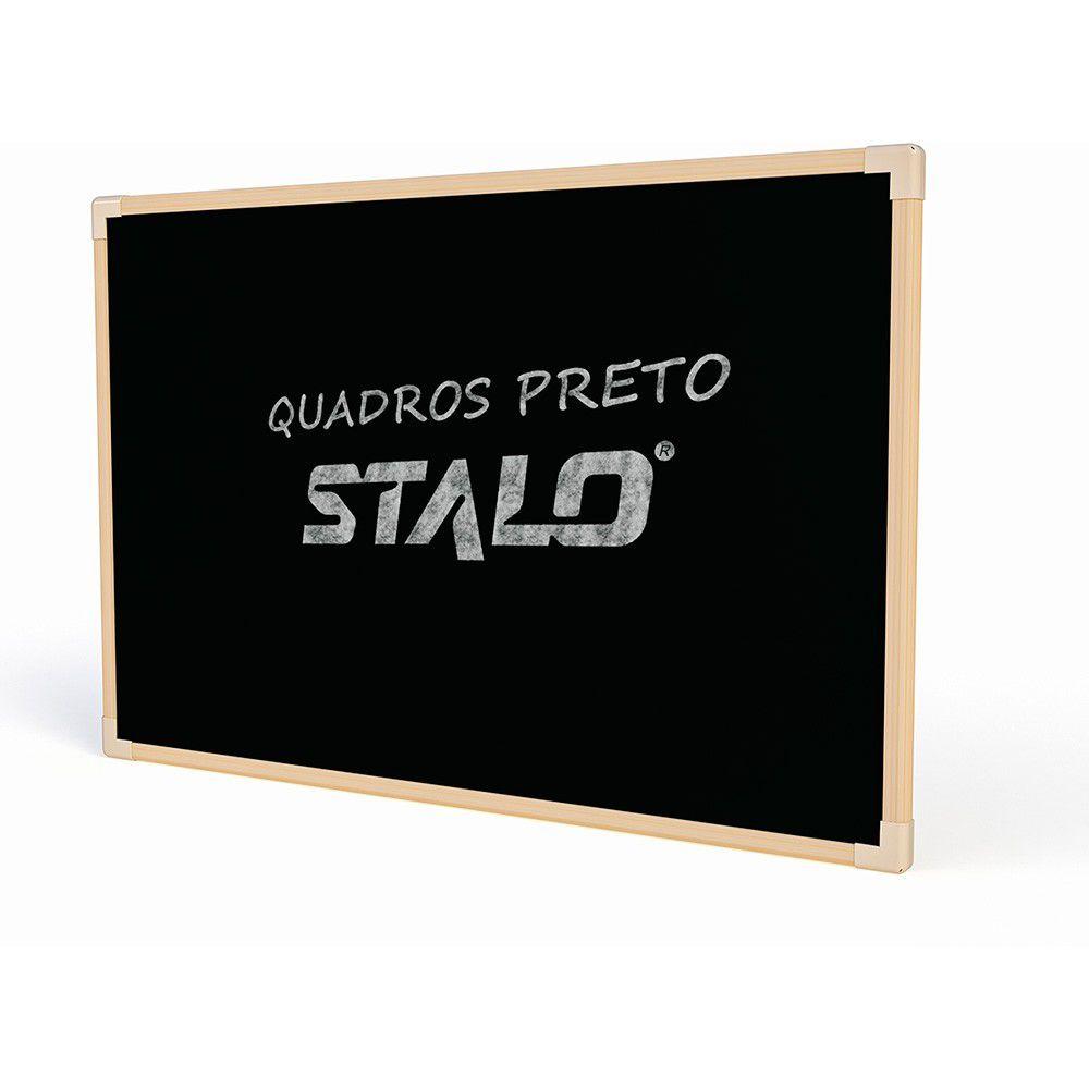 Quadro Preto Stalo 90X60Cm Madeira S/ Cantoneira 8811 24687