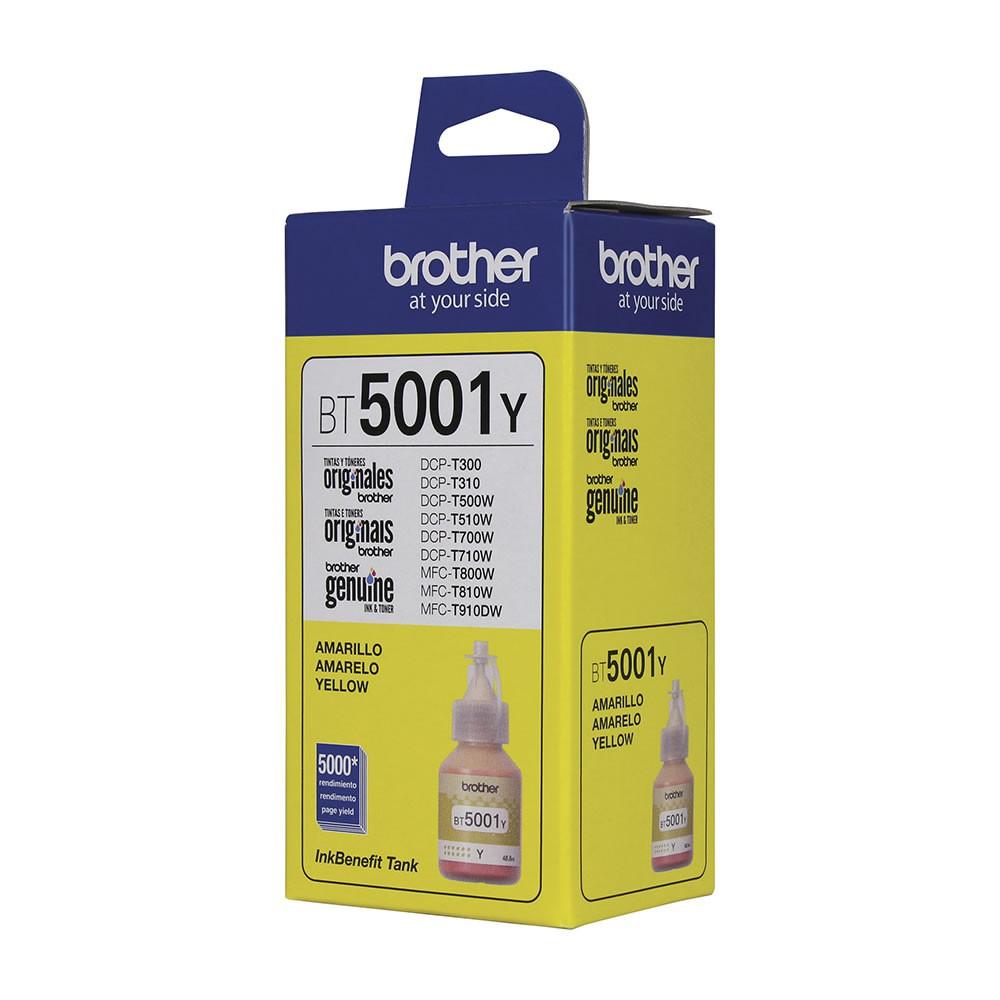 Refil de Tinta Brother Original BT5001Y Amarelo 22840