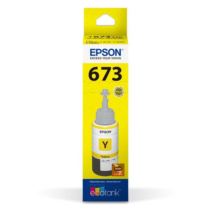 Refil de Tinta Epson T673420-Al Amarelo 17178