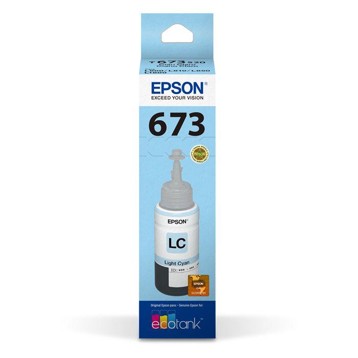 Refil de Tinta Epson T673520-Al Ciano Claro 17179