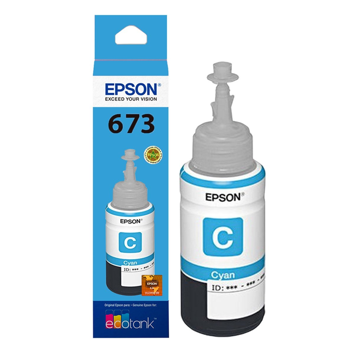 Refil de Tinta T 673 Epson T673220-AL Ciano 17176