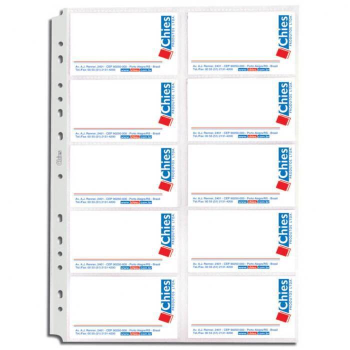 Refil para Porta Cartão para 20 Cartões Chies 10591