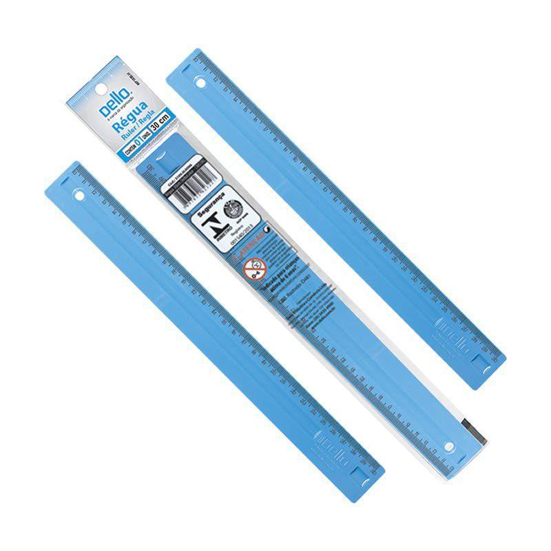 Régua Dello Pop Azul 30Cm Luxo 3112.C.0096 19454
