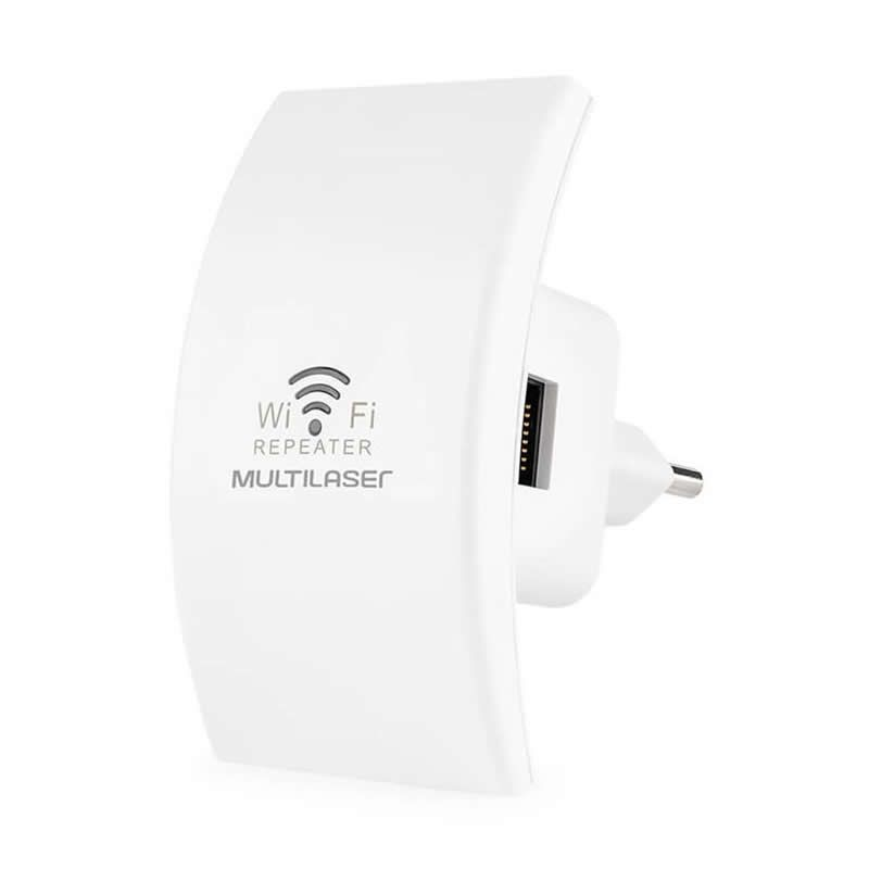 Repetidor de Sinal Multilaser Mini 300Mpbs Com WPS Branco RE055 26498