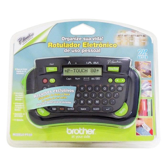 Rotulador Eletrônico Pt-80 Brother 08334