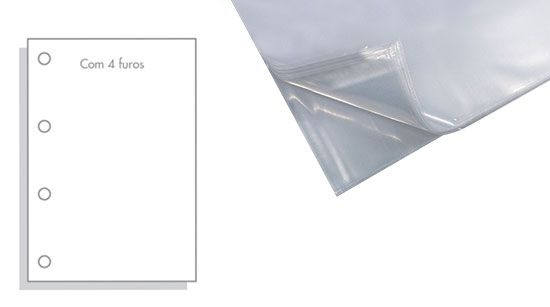 Saco Plástico ACP 0.15 Com 4 Furos Oficio (240X325) Com 100 Sacos Mg15/1004F 07907