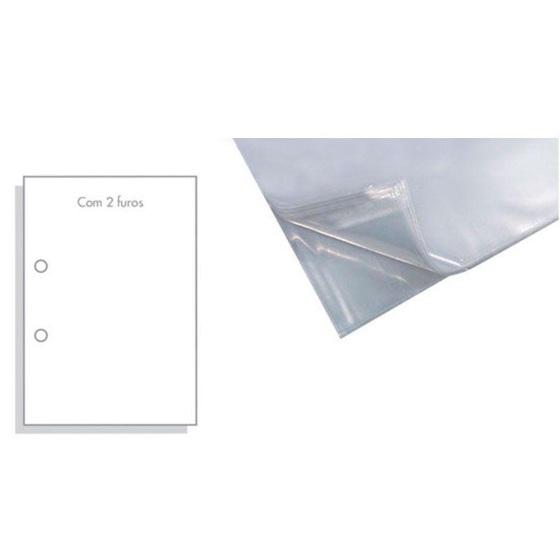 Saco Plastico ACP 0.20 Com 2 Furos Of (240X325) 100 Un  09162