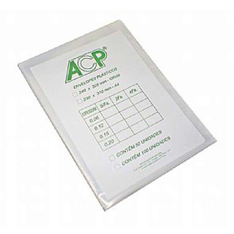 Saco Plastico ACP 0.30 Sem Furo 240X325 Com 100 Un. Mg30/100Sf 08889
